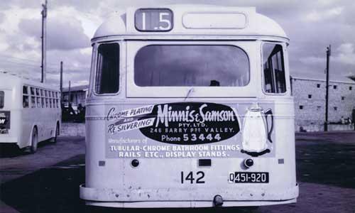 Minnis & Samson Pty Ltd Advertisement on bus